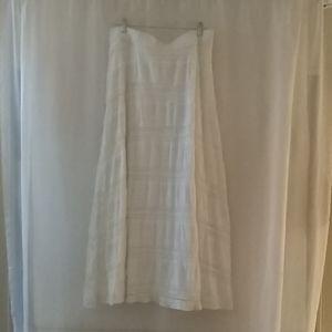 Chico's women's long white crochet skirt size 2